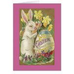 Vintage Easter Bunny Greeting Card