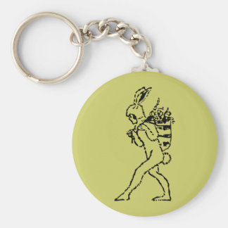 Vintage Easter Bunny Keychain