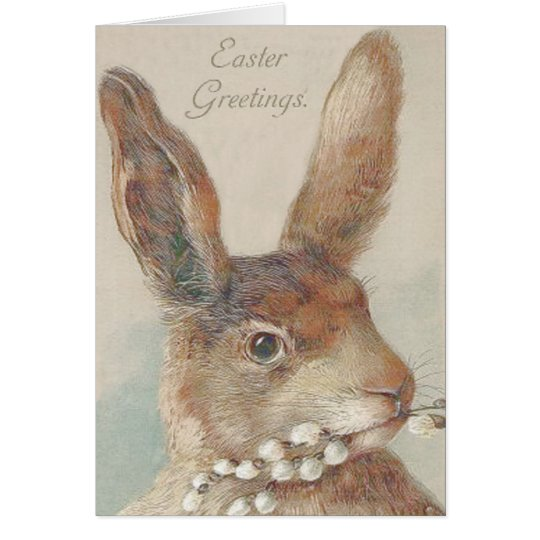 Vintage Easter Bunny Rabbit Card