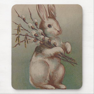 Vintage Easter Bunny Rabbit Mouse Mat