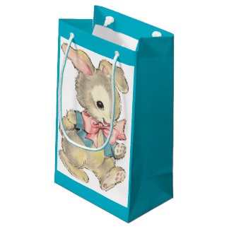 Vintage Easter Bunny Small Gift Bag