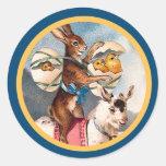 Vintage Easter Bunny Sticker