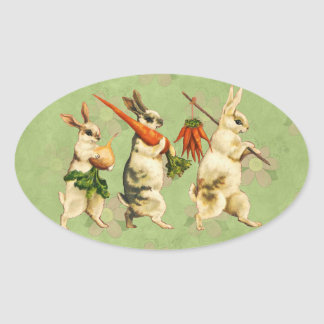 Vintage Easter Bunny Stickers