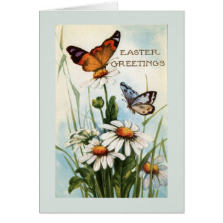 Vintage Easter Butterfly Greeting Cards