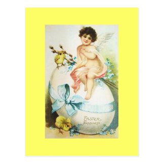 Vintage Easter Cherub & Chicks Postcard