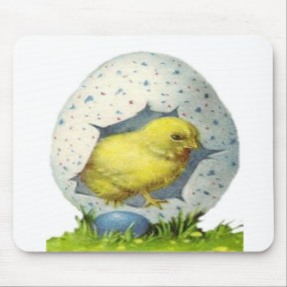 Vintage Easter Chick And Easter Egg Mouse Pad