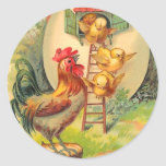 Vintage Easter Chick Stickers