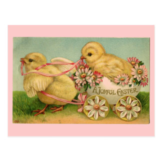 Vintage Easter Chicks Postcard