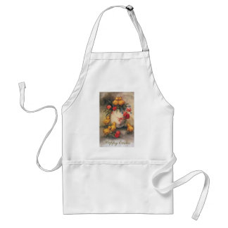 Vintage Easter Chicks with Red Tulip Flowers Aprons