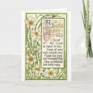 Vintage Easter - Christ is Risen, Holiday Card