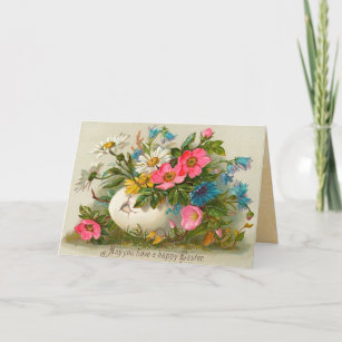 Antique easter gifts gift ideas zazzle uk vintage easter christmas card negle Images