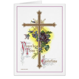 Vintage Easter Cross Card