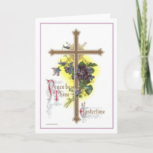 Vintage easter cross gifts gift ideas zazzle uk vintage easter cross christmas card negle Images