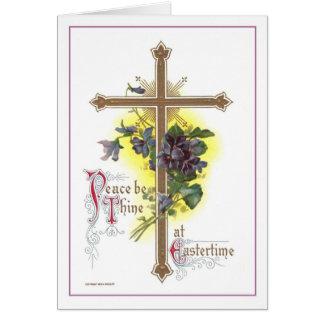 Vintage Easter Cross Greeting Card