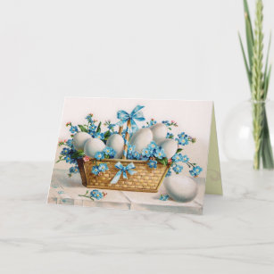 Old fashioned easter gifts gift ideas zazzle uk vintage easter egg card negle Images