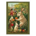Vintage Easter Egg Hunt Card