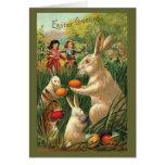 Vintage Easter Egg Hunt Greeting Cards