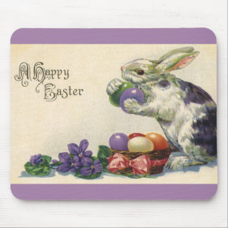 Vintage Easter Eggs and Victorian Easter Bunny Mouse Pad