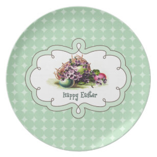 Religious easter plates zazzle vintage easter eggs easter gift plate negle Gallery