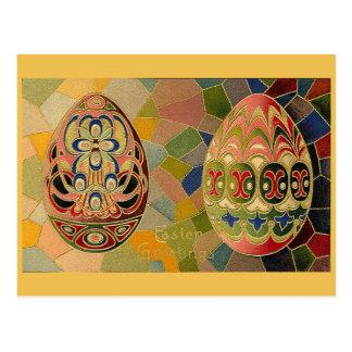 Vintage Easter Eggs Postcard