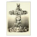 Vintage Easter Floral Christian Cross 1869 Greeting Card