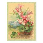 Vintage Easter Floral Post Card
