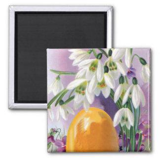 Vintage Easter Flowers Refrigerator Magnets