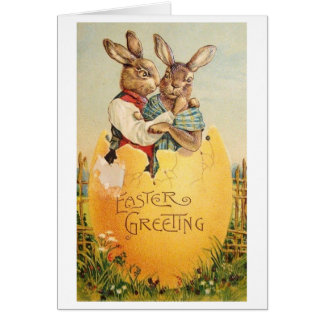 Vintage Easter Greeting!  Victorian Easter Card