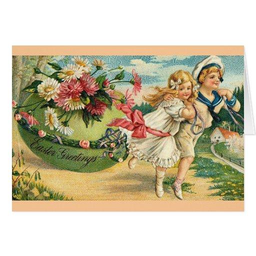 Vintage Easter Greetings Greeting Cards