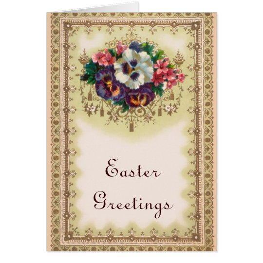 Vintage Easter Greetings Card