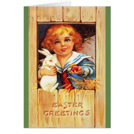 Vintage Easter Greetings, German image Card
