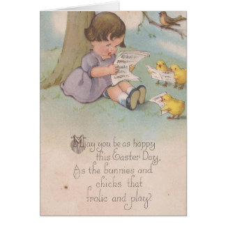 Vintage Easter Happy as Chicks Greeting Card