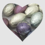 'Vintage Easter' Heart Stickers