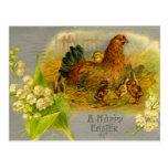 Vintage Easter Hen Post Cards