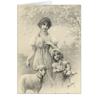 Vintage Easter Holiday Greeting Card