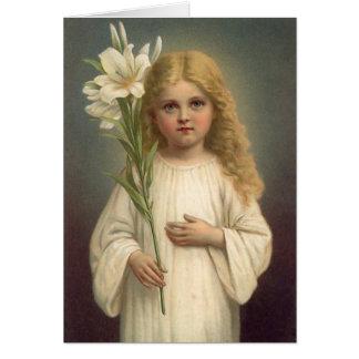 Vintage Easter Lily Card