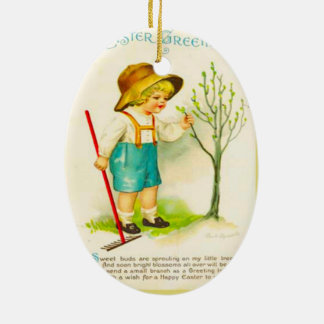 Vintage Easter, New buds in the garden Christmas Ornament