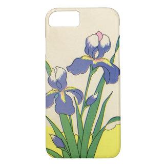Vintage Easter, Purple Garden Iris Flowers iPhone 7 Case