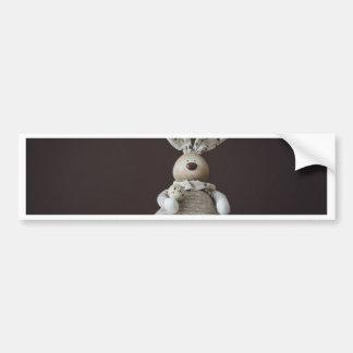 Vintage Easter Rabbit Bumper Sticker