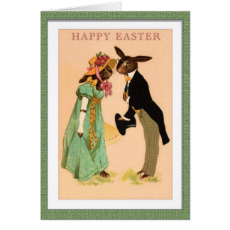 Vintage Easter Rabbit Sweethearts Card