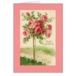 Vintage Easter Rose Tree Greeting Card
