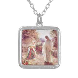 Vintage : easter - silver plated necklace