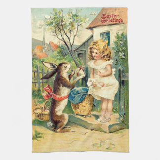 Vintage : easter - tea towel