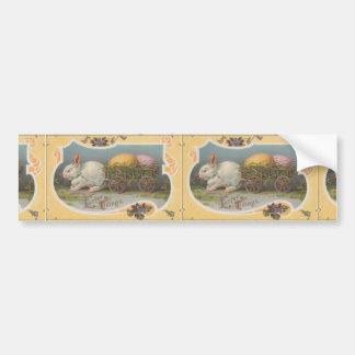 Vintage Easter Tidings Bumper Sticker