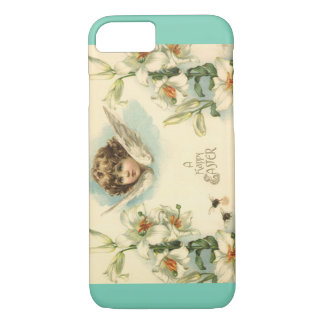 Vintage Easter, Victorian Angel with Lily Flowers iPhone 8/7 Case