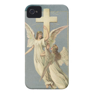 Vintage Easter, Victorian Angels with a Cross iPhone 4 Cover