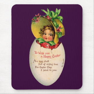 Vintage Easter, Victorian Child in an Egg Mouse Pad