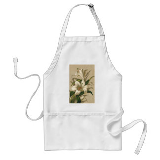 Vintage Easter, Victorian Lily Flowers in Bloom Aprons