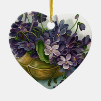 Vintage Easter Violets Christmas Ornament