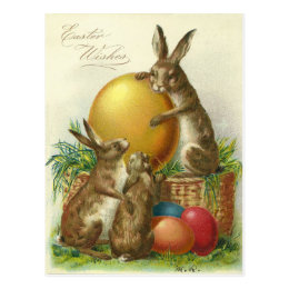 Vintage easter gifts on zazzle uk vintage easter wishes 1906 postcard negle Choice Image